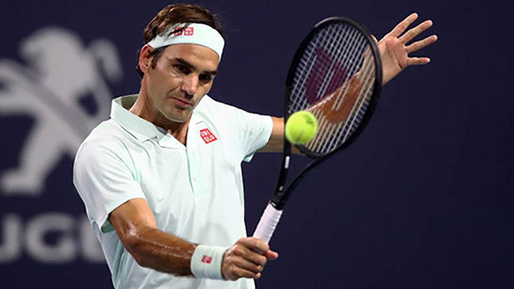 Federer thắng set trắng ở tứ kết Miami mở rộng