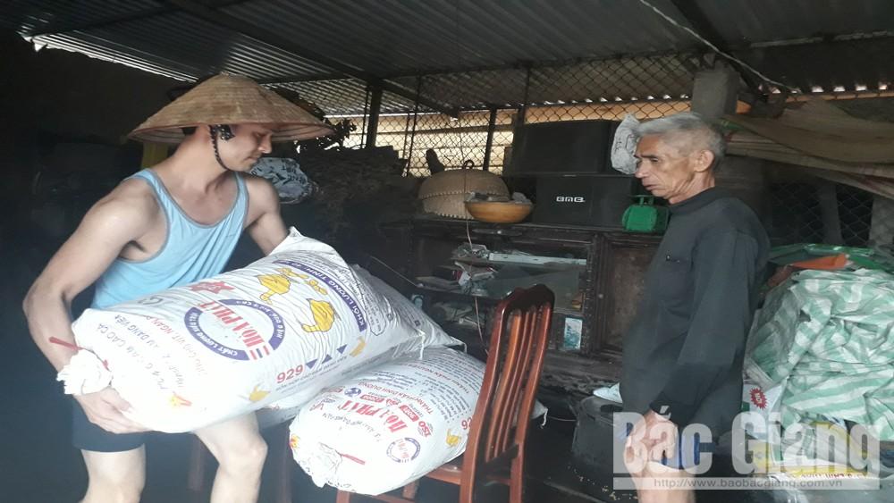 Mưa lớn, dân cư ngập úng, Yên Dũng, TP Bắc Giang