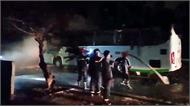 Ôtô 45 chỗ cháy rụi khi đang đậu ở Nha Trang