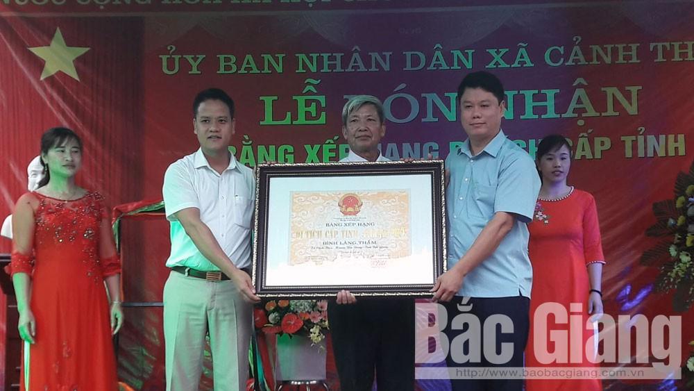 Đình làng Thắm, xã Cảnh Thụy được công nhận di tích lịch sử cấp tỉnh