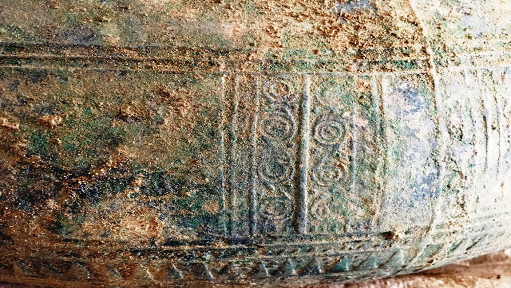 Ancient bronze drum discovered in Lao Cai