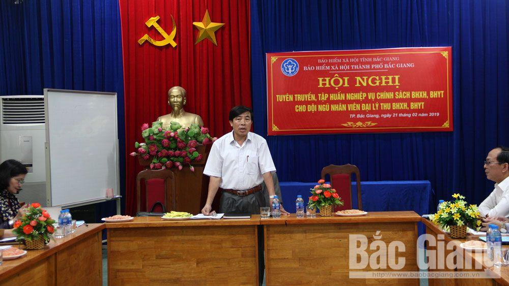 TP Bắc Giang, quản lý nhà nước, bảo hiểm xã hội