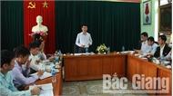 Phó Chủ tịch UBND tỉnh Lê Ánh Dương làm việc với Nhà hát Chèo Bắc Giang: Sớm rà soát chế độ chính sách, có sáng kiến đổi mới hoạt động đơn vị