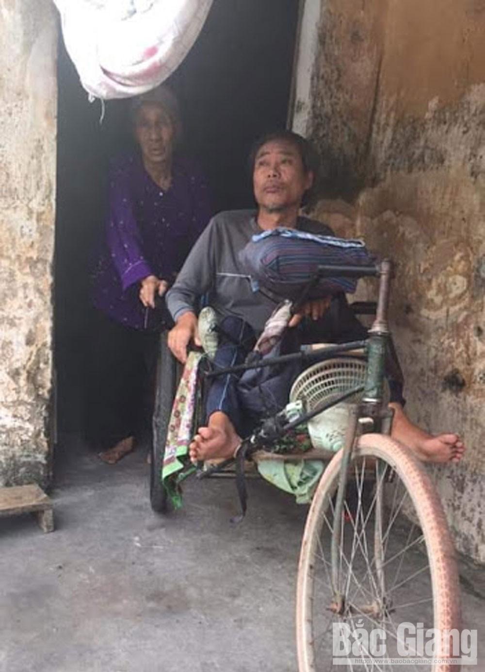 Lê Thị Tư, xã Quang Tiến, huyện Tân Yên, Bắc Giang, cụ bà 85 tuổi, nuôi chồng, con