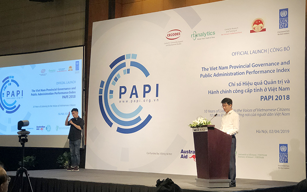 Bac Giang province, national leading group, PAPI 2018, Provincial Governance, Public Administration Performance, United Nations Development Program, public administrative procedure, environmental and electronic management
