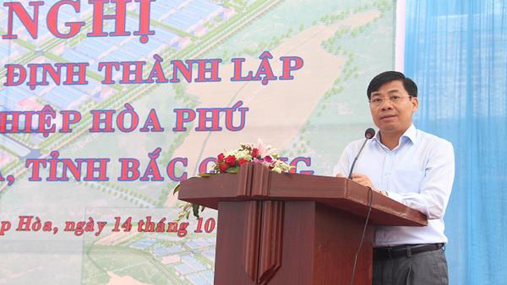 Hoa Phu Industrial Park, second quarter, Bac Giang province, project key items, construction and business, infrastructure construction