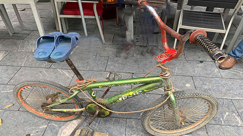 Bicycle Vietnamese boy rode 103km to see ailing brother auctioned