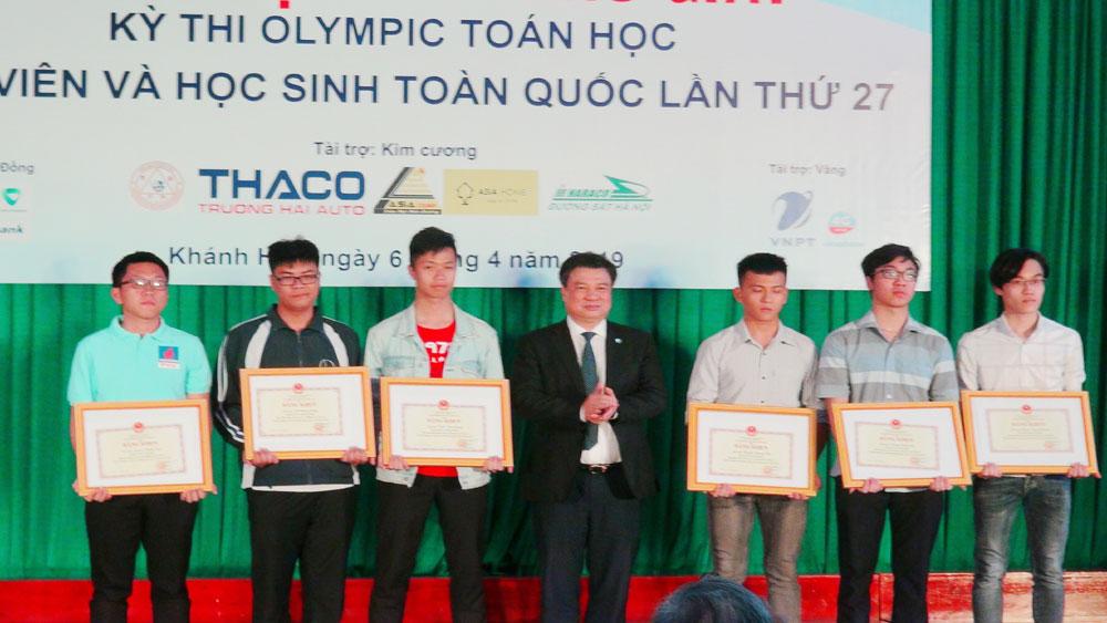 Bế mạc kỳ thi Olympic Toán học sinh viên và học sinh toàn quốc năm 2019