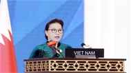 Chủ tịch Quốc hội Nguyễn Thị Kim Ngân phát biểu tại phiên thảo luận toàn thể Đại hội đồng IPU-140