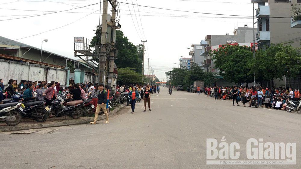 Gần 3 nghìn công nhân Công tyTNHH Việt Pan Pacific ngừng việc.