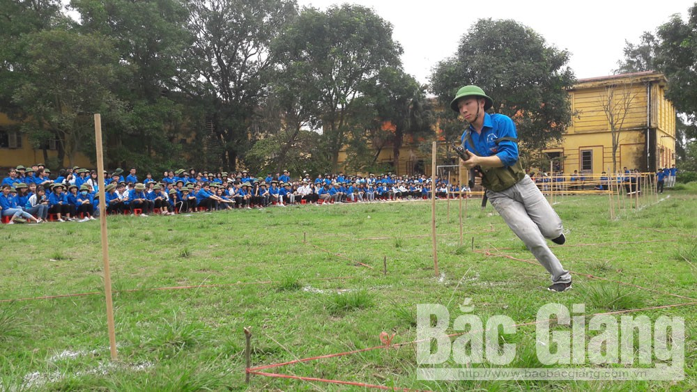 Yên Dũng: Lần đầu tiên tổ chức Hội thao Giáo dục Quốc phòng- An ninh cho học sinh THPT