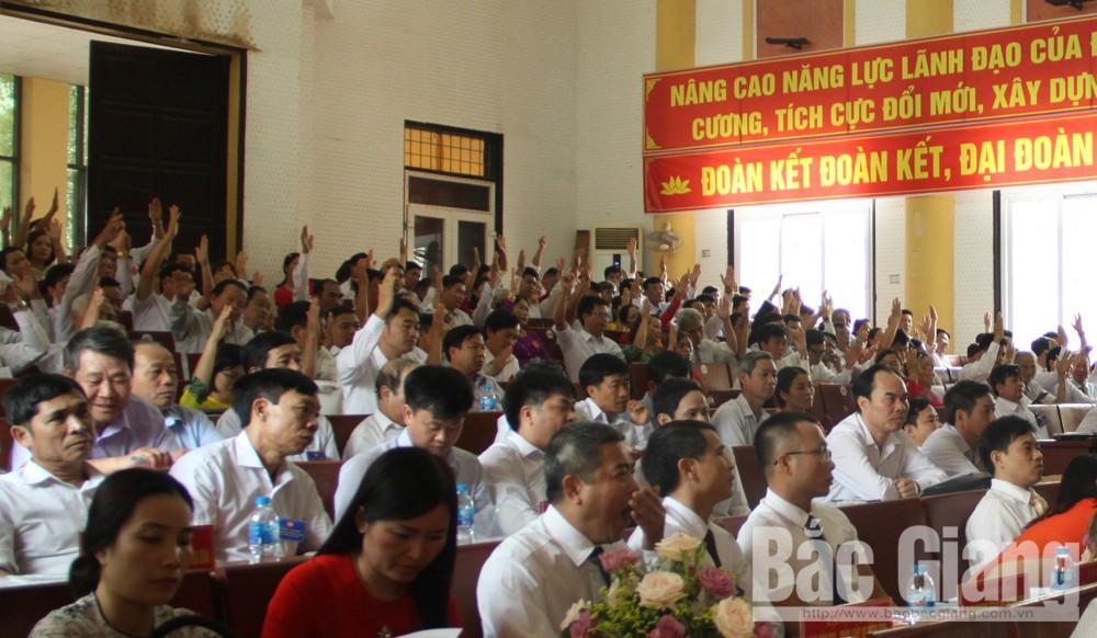 Đại hội Mặt trận Tổ quốc huyện Lục Nam lần thứ XIX, nhiệm kỳ 2019-2024
