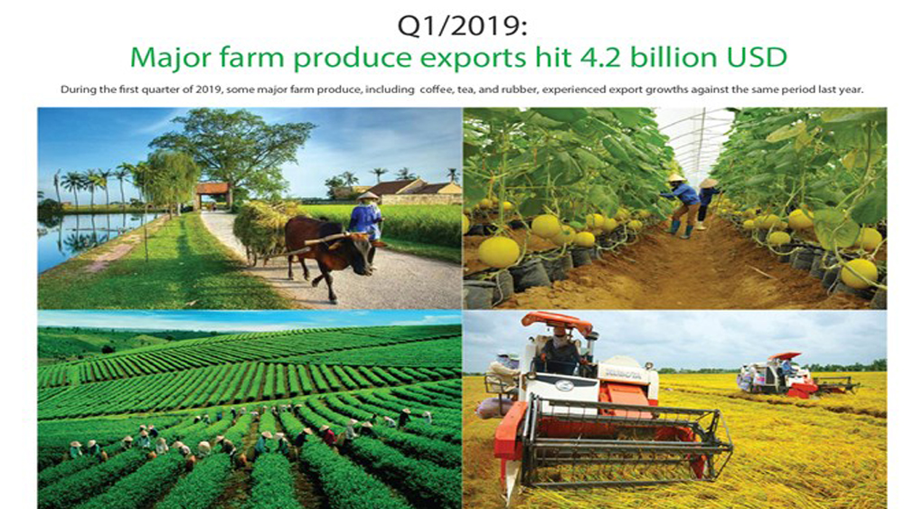 Major farm produce exports hit 4.2 billion USD