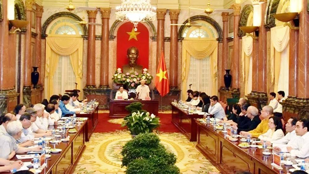 Tổng Bí thư, Chủ tịch nước Nguyễn Phú Trọng gặp mặt đại diện Đoàn Chủ tịch Ủy ban T.Ư MTQT Việt Nam