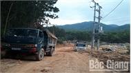 Cát sỏi tại Sơn Động tiếp tục bị khai thác trái phép