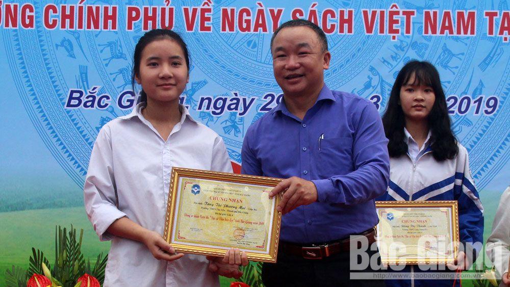 Bắc Giang, Tăng Thị Phương Mai,  Trường THCS Tân Tiến, Thư viện tỉnh, TP Bắc Giang, Đại sứ văn hóa đọc