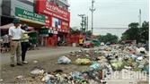 Rác thải dồn ứ tại khu vực đầu thôn My Điền 1
