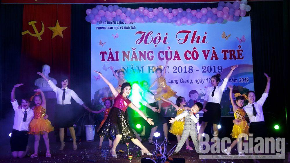 Lạng Giang; thi tài năng; cô và trẻ