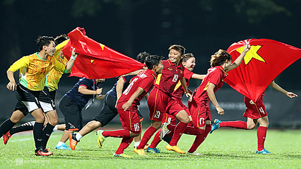 Women's football team receive bonus of 34,500 USD