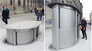 Nhà vệ sinh có thể 'chui' xuống đất ở Hà Lan