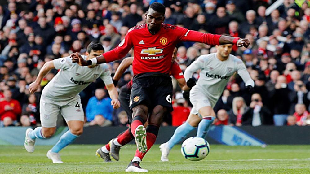 Man Utd thắng nhờ hai quả phạt đền của Pogba