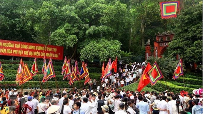 Palanquin procession held at Hung Kings Temple Festival