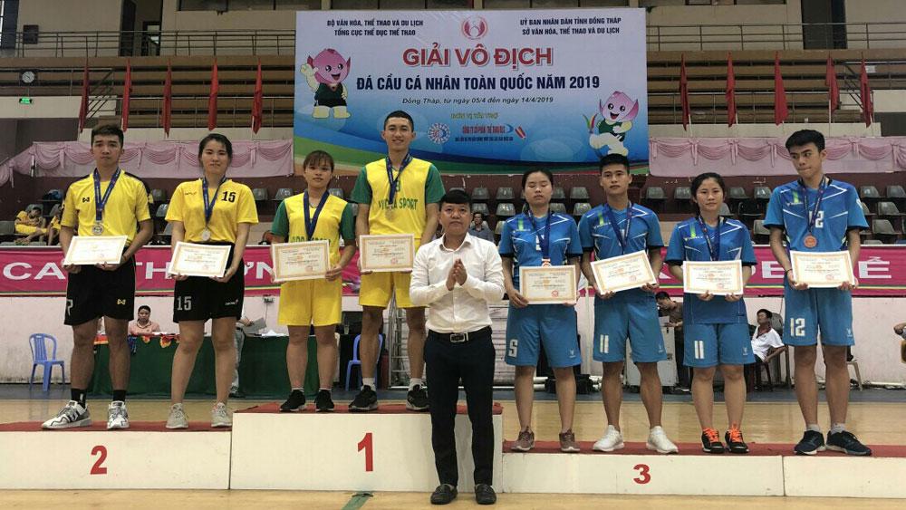 Đoàn Bắc Giang giành 2 HCV, 2 HCĐ giải vô địch đá cầu cá nhân toàn quốc