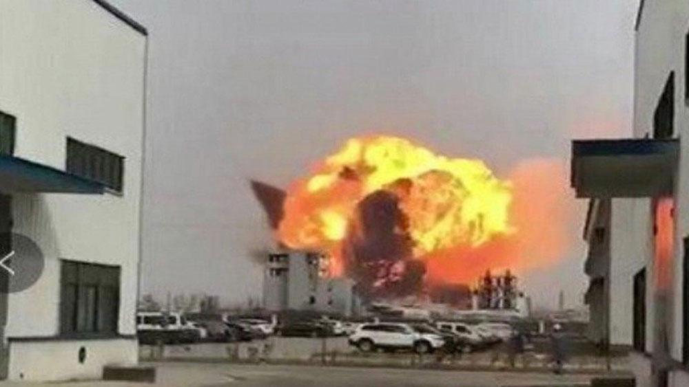 Trung Quốc bắt thêm 6 đối tượng liên quan vụ nổ nhà máy hóa chất tại tỉnh Giang Tô