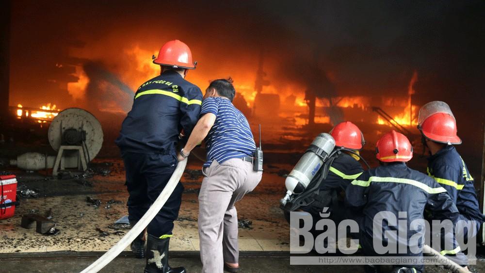 Một doanh nghiệp ở KCN Đình Trám (Bắc Giang) bị hỏa hoạn, thiệt hại hàng chục tỷ đồng