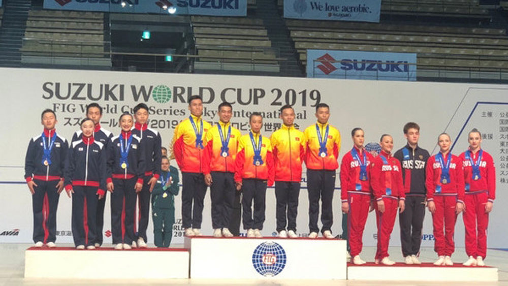 Vietnam strikes three gold medals at Aerobic Suzuki World Cup in Tokyo