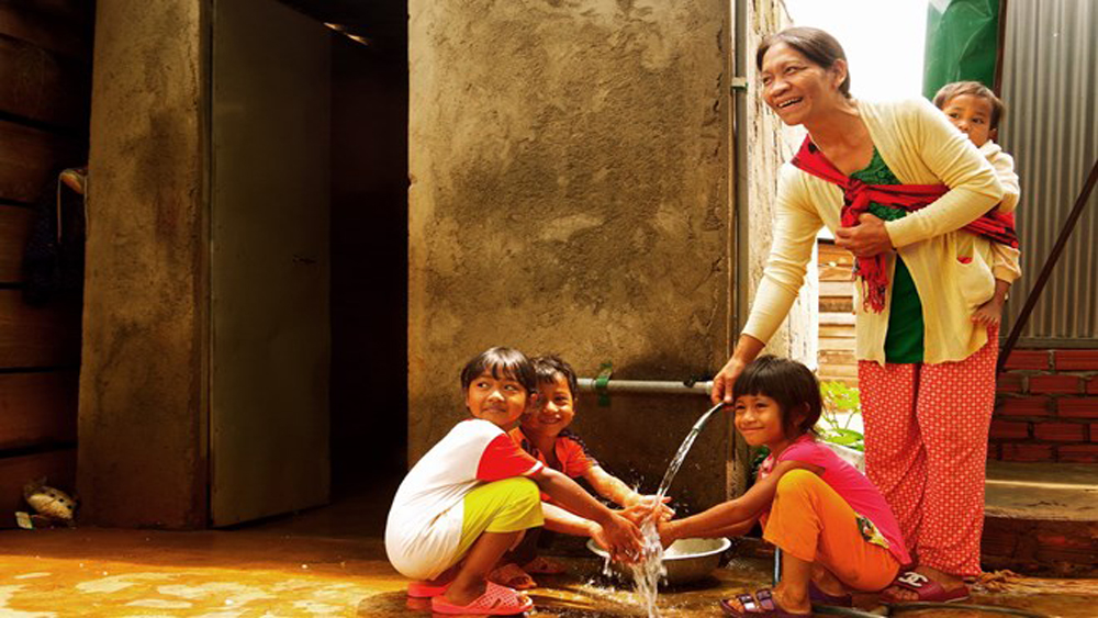 Clean water facilities, Central Highlands provinces, Vietnam Fatherland Front, water filter systems, pipeline systems, strong border defence