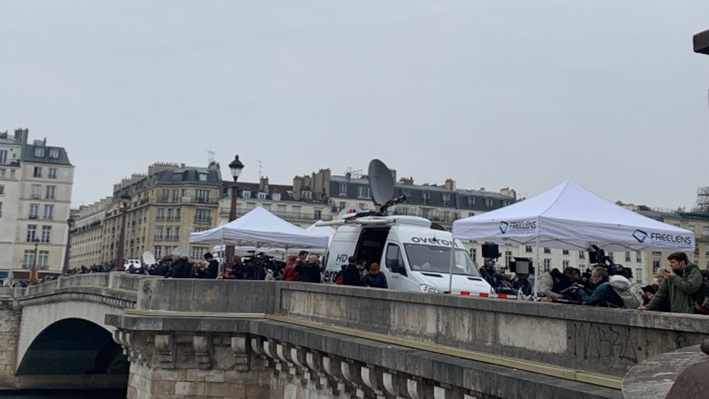 Công bố thiệt hại ban đầu, vụ cháy ở Nhà thờ Đức Bà Paris, Bộ Nội vụ Pháp Laurent Nune