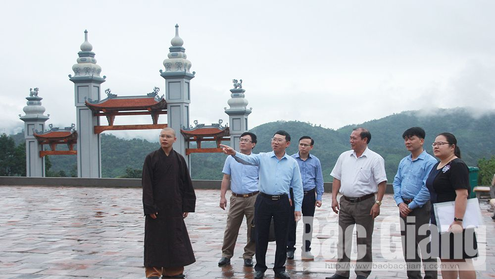 Bac Giang accelerates phase 2 of Tay Yen Tu spiritual and ecotourism complex project