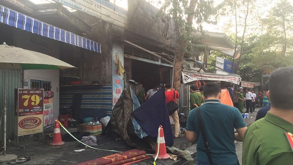 Cháy cửa hàng ở Huế, 2 vợ chồng, con gái 12 tuổi, tử vong