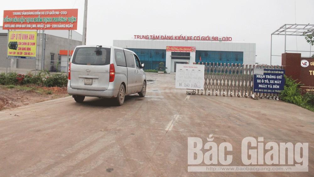 Bắc Giang, thu hồi, giấy phép, của, trung tâm đăng kiểm, xe cơ giới, 98-03D