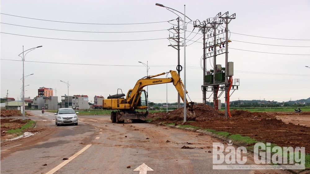 xây dựng, khu đô thị, khu dân cư, Việt Yên, Chậm tiến độ, thiếu mặt bằng