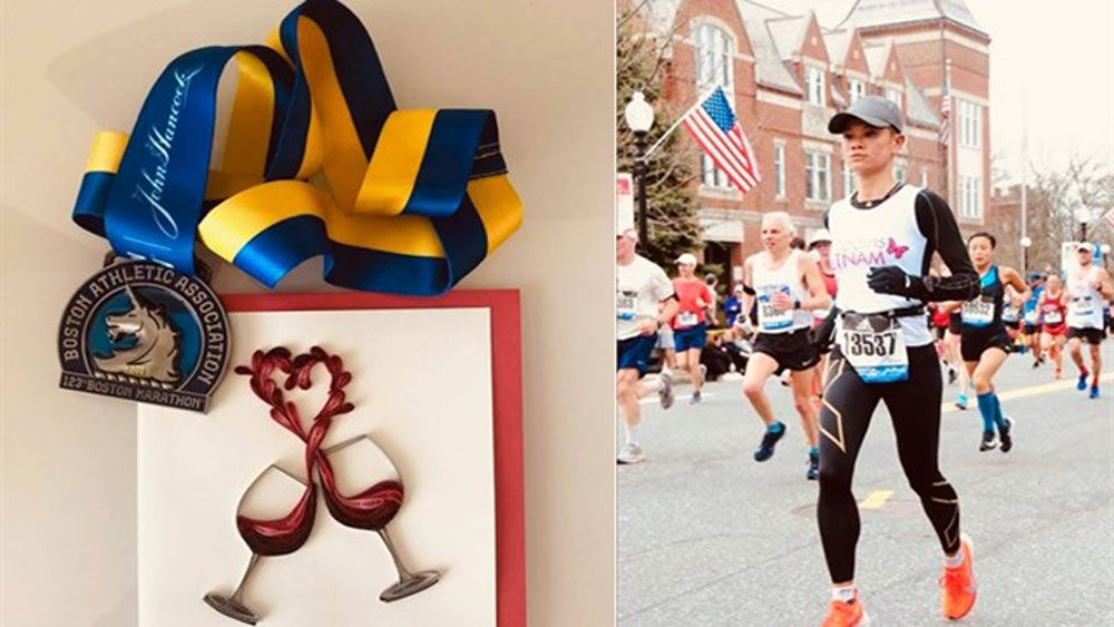 First Vietnamese woman completes Boston Marathon