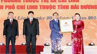 Công bố Nghị quyết thành lập TP Chí Linh