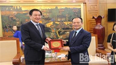 Tăng cường hợp tác giữa tỉnh Bắc Giang và thành phố Thái Châu (Trung Quốc)