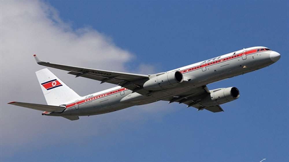 Máy bay chở đoàn đại biểu Triều Tiên, TP ladivostok của Nga,