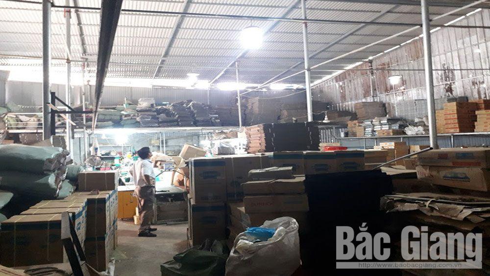 ô nhiễm môi trường, thôn Châu Lỗ, xã Mai Đình, huyện Hiệp Hòa (Bắc Giang), sản xuất, lắp ráp bếp ga trong khu dân cư gây bụi, mùi khó chịu