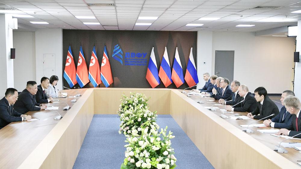Hội nghị thượng đỉnh Nga-Triều, cuộc gặp kín, hai nhà lãnh đạo, kéo dài gấp đôi thời gian dự kiến