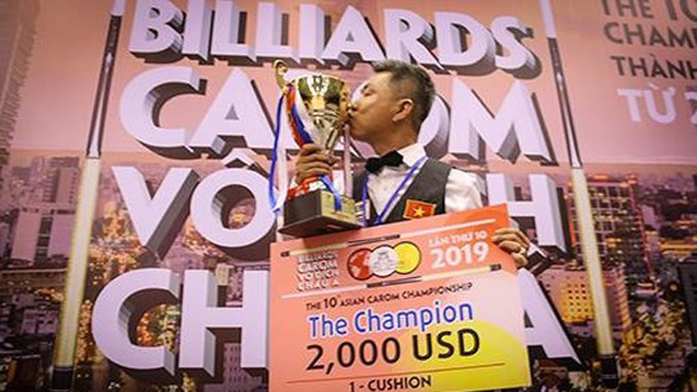 Vietnamese cueist wins tenth Asian Carom Champ