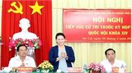 Chủ tịch Quốc hội Nguyễn Thị Kim Ngân tiếp xúc cử tri tại TP Cần Thơ