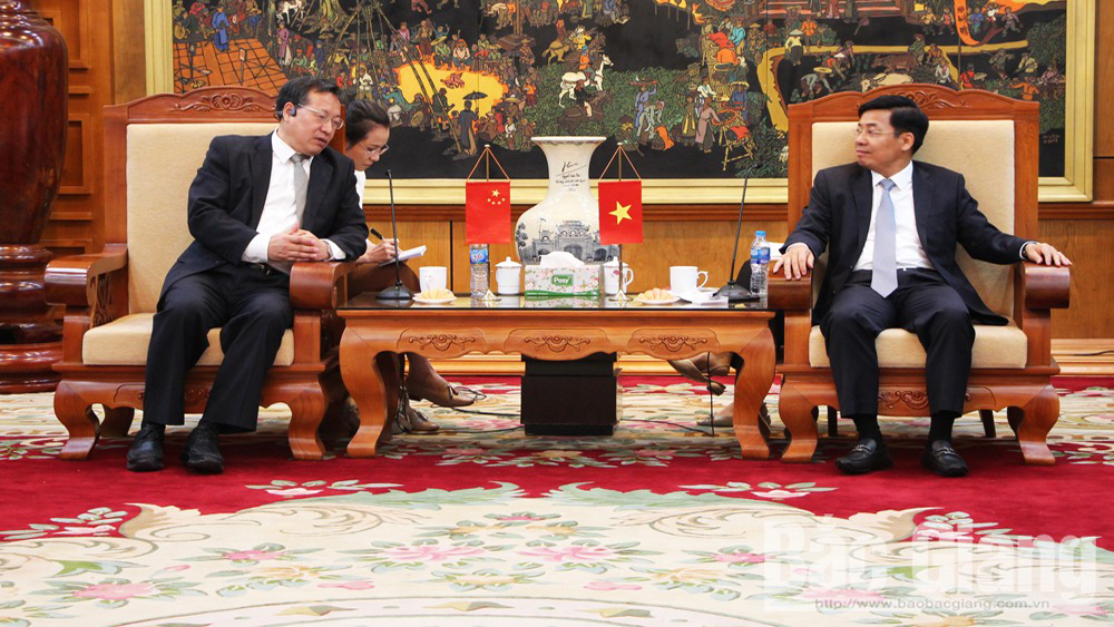 Provincial leader receives delegation of Chinese Embassy in Vietnam
