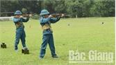 Kiểm tra kết thúc huấn luyện cho lực lượng dân quân cơ động