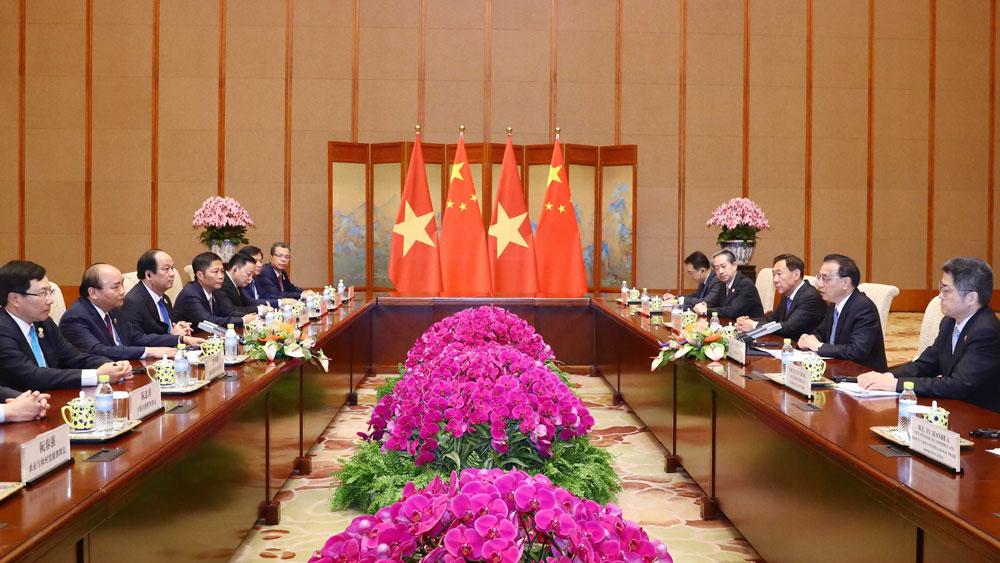Thủ tướng Nguyễn Xuân Phúc, hội đàm, Thủ tướng Trung Quốc