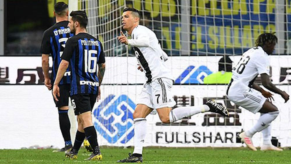 Ronaldo lập công giúp Juventus hoà Inter