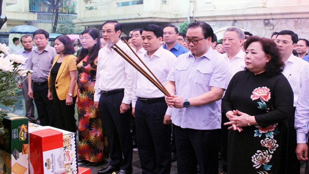 Hà Nội, dâng hương, tưởng niệm 115 năm, ngày sinh Tổng Bí thư Trần Phú