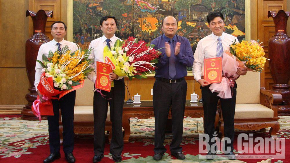 Quyết định, bổ nhiệm, 3 phó giám đốc, Bắc Giang, 5-2019